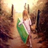 Little Surfer girl commission